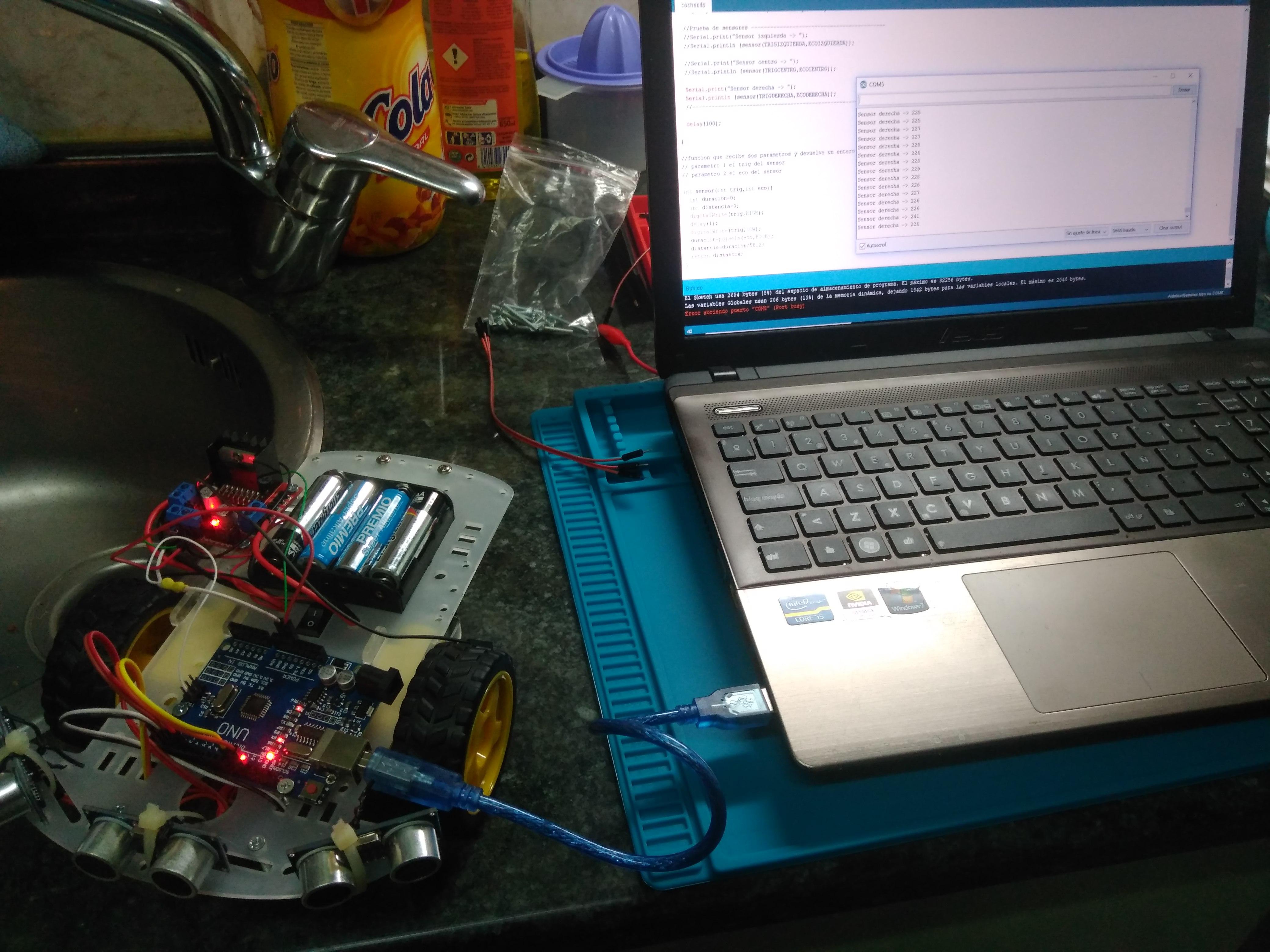 cochecito motor sensor distnaic